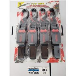 "4 Pack of Erickson Manufacturing 1"" x 15' 1300lb Rachet Straps"