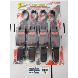 "4 Pack of Erickson Manufacturing 1"" x 15' 1300lb Rachet Straps"