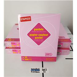 "5 Packs of New Staples Pastels Lilac 8.5"" x 11"" Letter Size Paper"