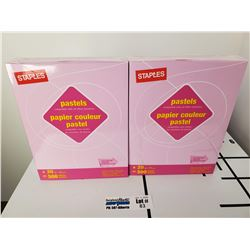"5 Packs of New Staples Pastels Gray 8.5"" x 11"" Letter Size Paper"