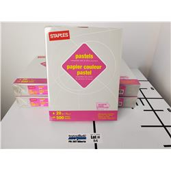 "2 Packs of New Staples Pastels Gray 8.5"" x 11"" Letter Size Paper"