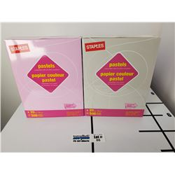 "1 Packs of New Staples Pastels Lilac & 1 Pack of Staples Pastels Gray 8.5"" x 11"" Letter Size Paper"