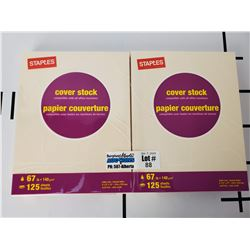 "2 Packs of New Staples Cover Stock 67 Lb 8.5"" x 11"" Letter Size Paper"