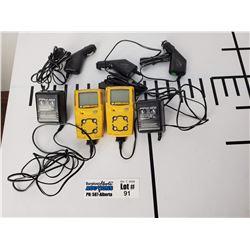 Lot of 2 Gas Alert Micro Clip BW Gas Monitors