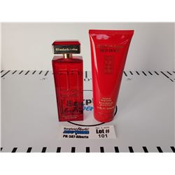 Elizabeth Arden Red Door Perfume & Perfumed Body Lotion with Carry bag *Almost full store tester fro