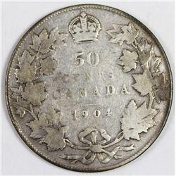 1904 CANADA SILVER HALF DOLLAR