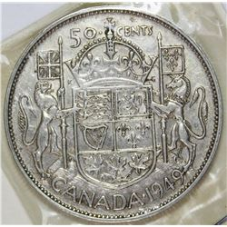 1949 CANADA HALF DOLLAR
