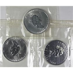 (1) 1999 AND (2) 2000 CANADA SILVER MAPLE LEAFS