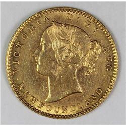 1881 $2.00 NEWFOUNDLAND GOLD