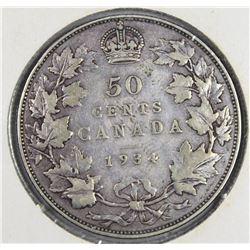1934 CANADA HALF DOLLAR