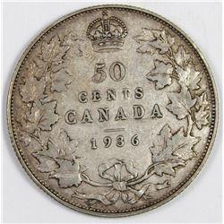 1936 CANADA HALF DOLLAR
