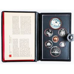 1981 Canada Double Dollar Proof Coin Set with Silver.