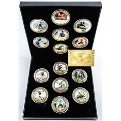 Scarce - Avengers 14pc 24kt Gold Plated Medallion Set with Certificate. Limited Edition.