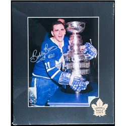 """Bobby Baun Hand Signed and Matted 8x10"""" Photo with Certificate of Authenticity au Verso."""