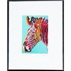"Andy Warhol ""The Detail Series"" 5x7"" Art Card - Zebra. Bio au Verso."