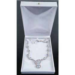 Ladies .925 Silver White Swarovski Element Necklace.