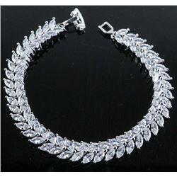 .925 Silver Marquise Swarovski Element Bracelet.