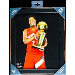 "Toronto Raptors NBA Champions Collector Frame - Lowry. 8x10""."