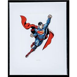 "DC Comics Art Card ""Superman"". 8x10"". Bio au Verso."