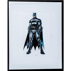 "DC Comics Art Card ""Batman"". 8x10"". Bio au Verso."