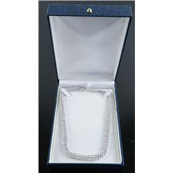 .925 Silver Marquise Swarovski Element Necklace.