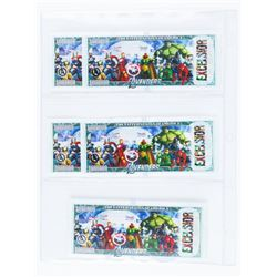 """Lot (5) USA Avengers Collector Notes """"1,000,000""""."""