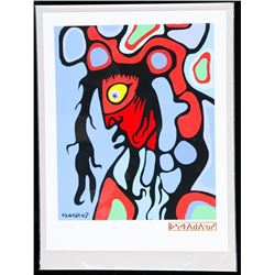 """Norval Morrisseau (1931-2007) Canada's Picasso of the North Litho. """"Soul Vision"""". Limited Edition Pu"""