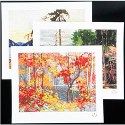 Tom Thomson (1877-1917) 3pc Northern Icons Suite I. Art Folio. Limited Edition, Matched Low #5. Appr