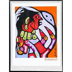 """Norval Morrisseau (1931-2007) Canada's Picasso of the North Litho. """"As I See Myself"""". Limited Editio"""