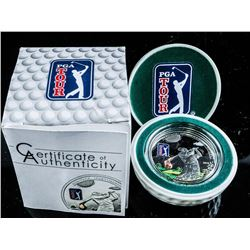PGA Golf Club .925 Silver Collector Proof Coin. Limited Edition.