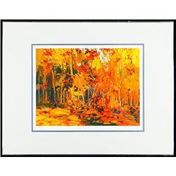"Tom Thomson (1877-1917) ""Maple Saplings, October"" Art Print. Limited Somerville Edition #8/975. Scar"