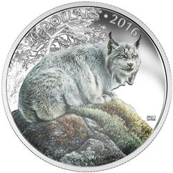 """.9999 Fine Silver $20 """"Commanding Lynx"""" Coin. SOLD OUT at the Royal Canadian Mint. Limited Edition w"""