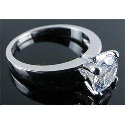 .925 Silver Swarovski Element Ring - Size 8.