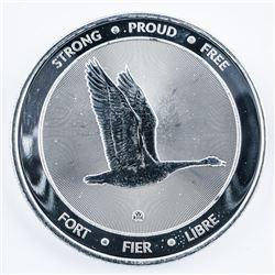 """Canada 150 .9999 Fine Silver Collector Coin. """"Strong, Proud, Free"""" Canada Goose Verso."""