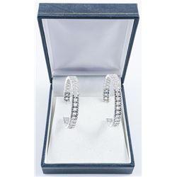 Ladies Hoop Earrings with Swarovski Elements.