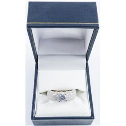 .925 Silver Swarovski Element Ring - Size 6.