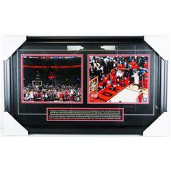 "Toronto Raptors - NBA Champions Collector Frame ""The Shot"". 26x16""."