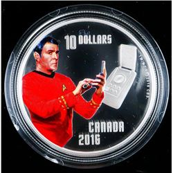 """Sold Out - Star Trek's """"Scotty"""" $10 .9999 Fine Silver Coin. Limited Edition with COA."""