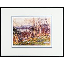 "Tom Thomson (1877-1917) ""First Snow, Canoe Lake"" Art Print. Limited Somerville Edition #1/975. RARE."