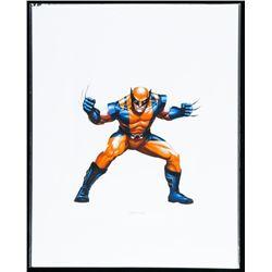 """Marvel Art Card """"Wolverine"""". 8x10"""". Bio au Verso."""
