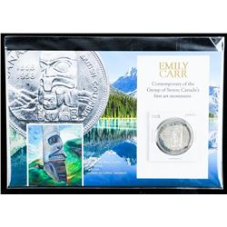 "1958 Canada Silver Dollar - Emily Carr's ""A Skidegate Pole."