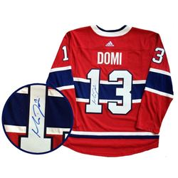 Max Domi - Hand Signed Pro Adidas Jersey.