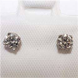 14K White Gold Diamond(0.36ct) Earrings (~weight 12g), Made in Canada, Insurance Value $1550 (Estima