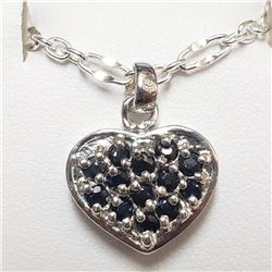 Silver Sapphire Necklace (~weight 6.2g), Suggested Retail Value $250 (Estimated Selling Price from $
