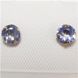 10K Yellow Gold Tanzanite(0.56ct) Freshwater Pearl 2In1 Earrings (~weight 13.29g), Suggested Retail