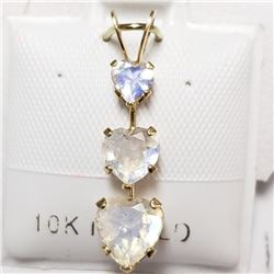 10K Yellow Gold Moonstone Pendant (~weight 3.03g), Suggested Retail Value $250 (Estimated Selling Pr