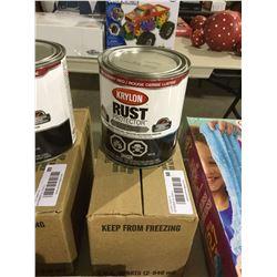 Case of Krylon Rust Protector Gloss Cherry Red Enamel (2 x 946mL)