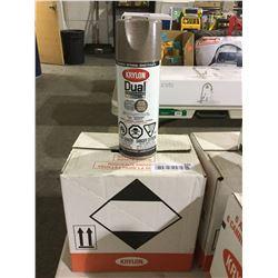 Case of Krylon Dual Superbond Paint and Primer Aerosol Spray Hammered Brown (6 x 340g)
