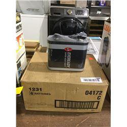 Case of 6 Eveready Super Heavy Duty 6V Batteries