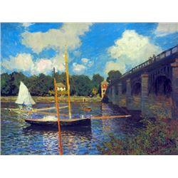 Claude Monet - The Road Bridge, Argenteuil